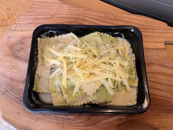 vegetarische ravioli ricotta spinazie
